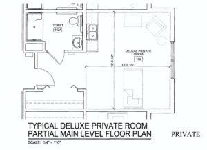 Assisted Living Private Room Floorplan